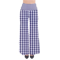 Usa Flag Blue Large Gingham Check Plaid  Pants by PodArtist