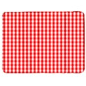Christmas Red Velvet Large Gingham Check Plaid Pattern Samsung Galaxy Tab 7  P1000 Flip Case View1