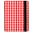 Christmas Red Velvet Large Gingham Check Plaid Pattern Samsung Galaxy Tab 7  P1000 Flip Case View2