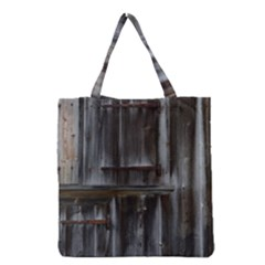 Alpine Hut Almhof Old Wood Grain Grocery Tote Bag