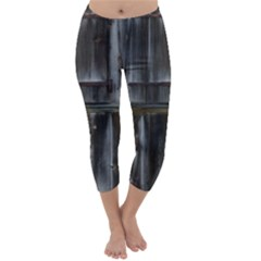 Alpine Hut Almhof Old Wood Grain Capri Winter Leggings