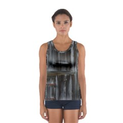Alpine Hut Almhof Old Wood Grain Women s Sport Tank Top