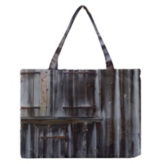 Alpine Hut Almhof Old Wood Grain Medium Zipper Tote Bag