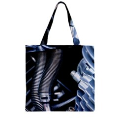 Motorcycle Details Zipper Grocery Tote Bag by BangZart