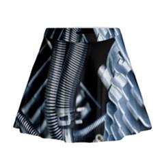 Motorcycle Details Mini Flare Skirt