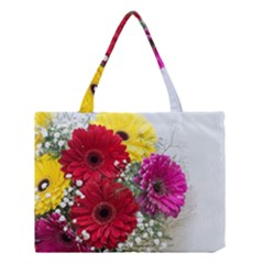 Flowers Gerbera Floral Spring Medium Tote Bag