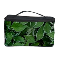 Texture Leaves Light Sun Green Cosmetic Storage Case by BangZart