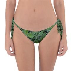 Texture Leaves Light Sun Green Reversible Bikini Bottom