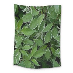 Texture Leaves Light Sun Green Medium Tapestry