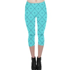 Pattern Background Texture Capri Leggings