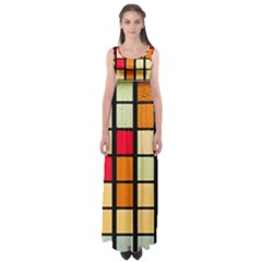 Mozaico Colors Glass Church Color Empire Waist Maxi Dress