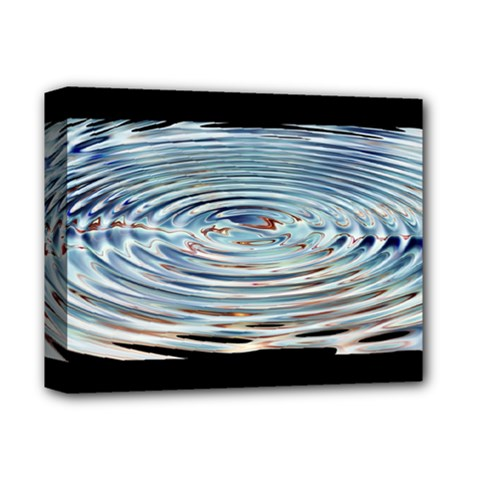 Wave Concentric Waves Circles Water Deluxe Canvas 14  X 11  by BangZart