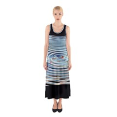 Wave Concentric Waves Circles Water Sleeveless Maxi Dress