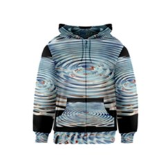 Wave Concentric Waves Circles Water Kids  Zipper Hoodie