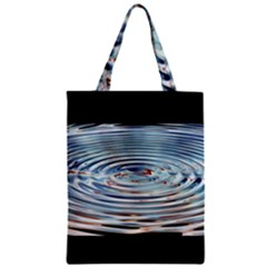 Wave Concentric Waves Circles Water Zipper Classic Tote Bag