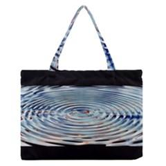 Wave Concentric Waves Circles Water Medium Zipper Tote Bag