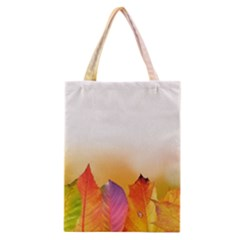 Autumn Leaves Colorful Fall Foliage Classic Tote Bag by BangZart