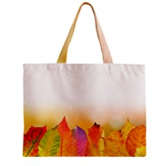 Autumn Leaves Colorful Fall Foliage Zipper Mini Tote Bag by BangZart