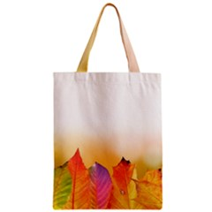 Autumn Leaves Colorful Fall Foliage Zipper Classic Tote Bag by BangZart