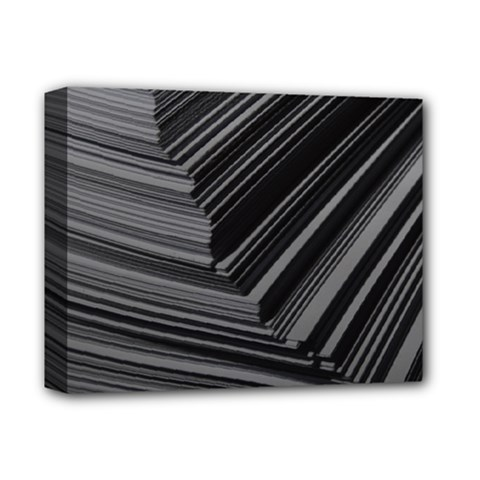 Paper Low Key A4 Studio Lines Deluxe Canvas 14  X 11  by BangZart
