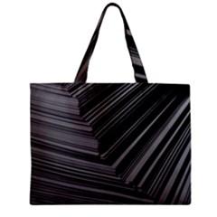 Paper Low Key A4 Studio Lines Zipper Mini Tote Bag by BangZart
