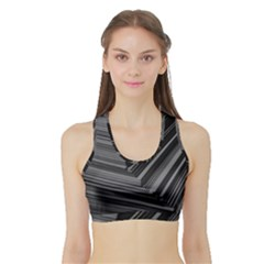 Paper Low Key A4 Studio Lines Sports Bra With Border