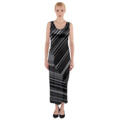 Paper Low Key A4 Studio Lines Fitted Maxi Dress