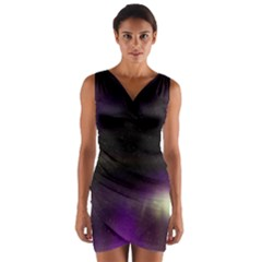 The Northern Lights Nature Wrap Front Bodycon Dress