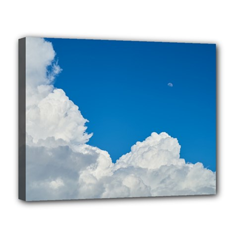 Sky Clouds Blue White Weather Air Canvas 14  X 11  by BangZart