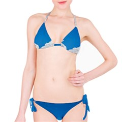 Sky Clouds Blue White Weather Air Bikini Set
