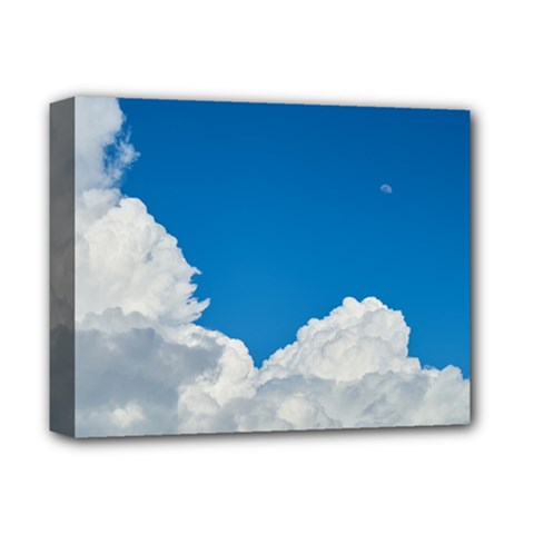 Sky Clouds Blue White Weather Air Deluxe Canvas 14  X 11  by BangZart