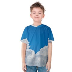 Sky Clouds Blue White Weather Air Kids  Cotton Tee