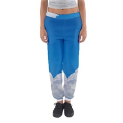 Sky Clouds Blue White Weather Air Women s Jogger Sweatpants