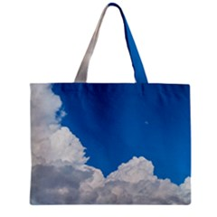 Sky Clouds Blue White Weather Air Zipper Mini Tote Bag by BangZart