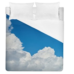 Sky Clouds Blue White Weather Air Duvet Cover (queen Size) by BangZart