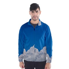 Sky Clouds Blue White Weather Air Wind Breaker (men)