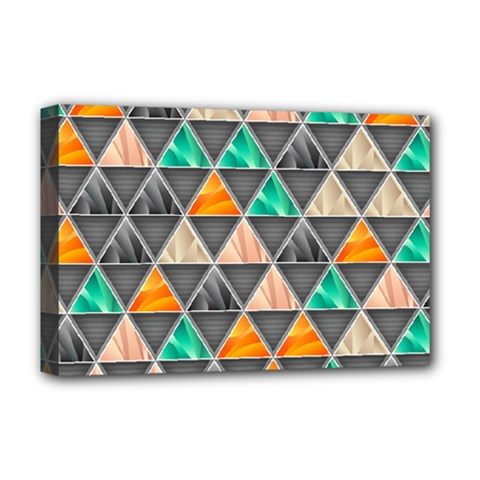Abstract Geometric Triangle Shape Deluxe Canvas 18  X 12   by BangZart