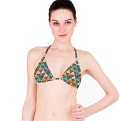 Abstract Geometric Triangle Shape Bikini Top
