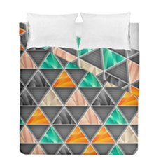 Abstract Geometric Triangle Shape Duvet Cover Double Side (full/ Double Size)