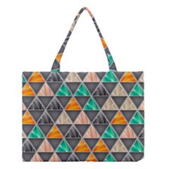 Abstract Geometric Triangle Shape Medium Tote Bag by BangZart