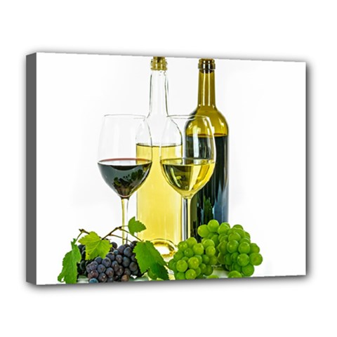 White Wine Red Wine The Bottle Canvas 14  X 11  by BangZart