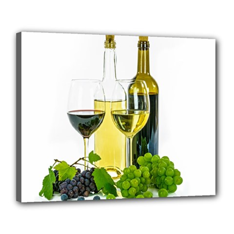 White Wine Red Wine The Bottle Canvas 20  X 16