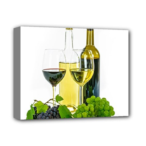 White Wine Red Wine The Bottle Deluxe Canvas 14  X 11  by BangZart