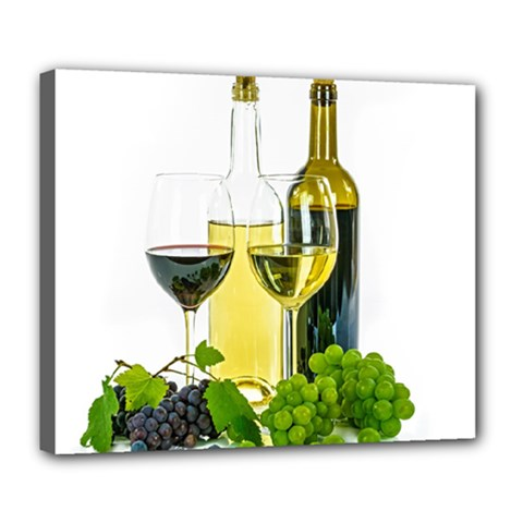 White Wine Red Wine The Bottle Deluxe Canvas 24  X 20   by BangZart
