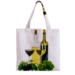White Wine Red Wine The Bottle Grocery Tote Bag by BangZart