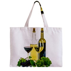 White Wine Red Wine The Bottle Mini Tote Bag by BangZart