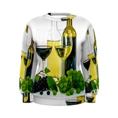 White Wine Red Wine The Bottle Women s Sweatshirt
