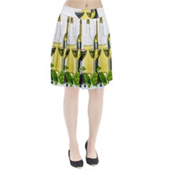 White Wine Red Wine The Bottle Pleated Skirt