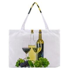White Wine Red Wine The Bottle Medium Zipper Tote Bag