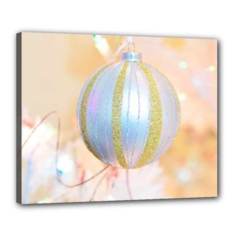 Sphere Tree White Gold Silver Canvas 20  X 16  by BangZart